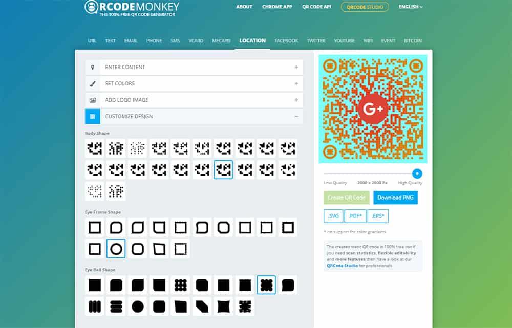 วิธีสร้าง QR Code ใน qrcode-monkey ดีไซน์รูปแบบ