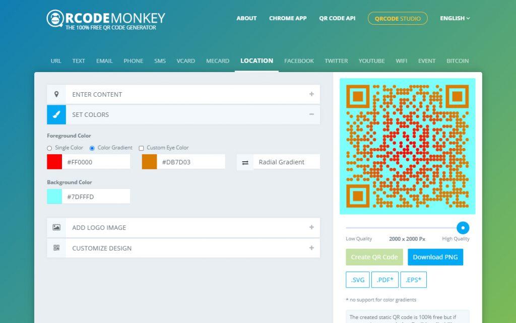 วิธีสร้าง QR Code ใน qrcode-monkey ปรับสี