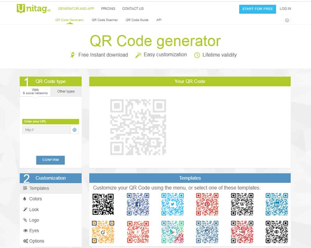 เว็บสร้าง QR Code unitag
