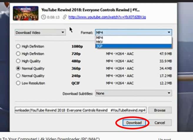 ดาวน์โหลดวิดีโอ YouTube บนคอมโดยโปรแกรม 4k Video downloader