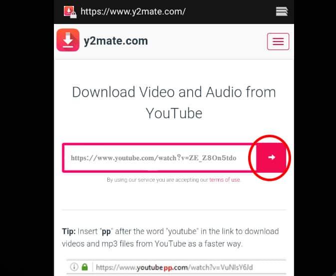 วิธี ดาวน์โหลดวีดีโอจาก YouTube เก็บไว้ในมือถือ เว็บ y2mate