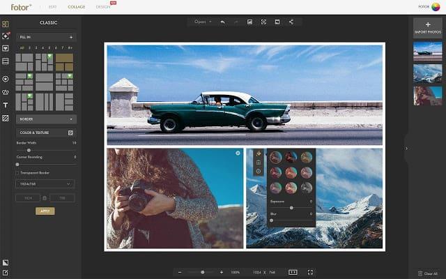 เว็บโปรแกรมแต่งรูปออนไลน์ fotor