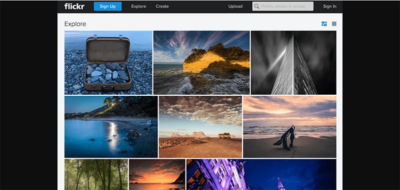 เว็บโหลดรูปภาพฟรี Flickr