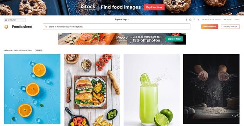 เว็บโหลดรูปภาพฟรี FoodiesFeed