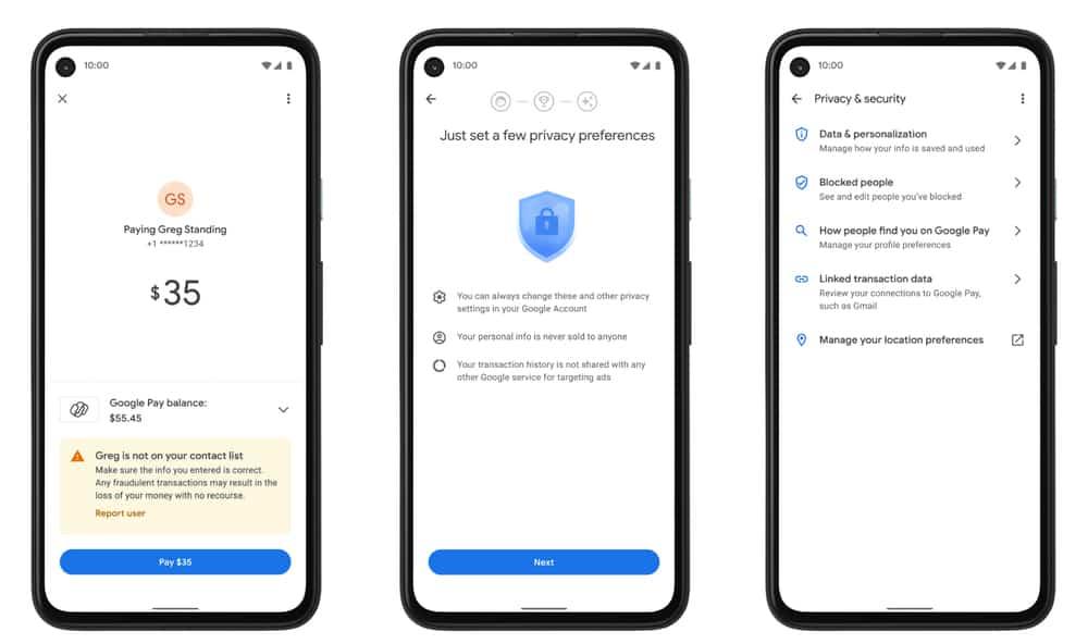 google pay ระบบความปลอดภัย
