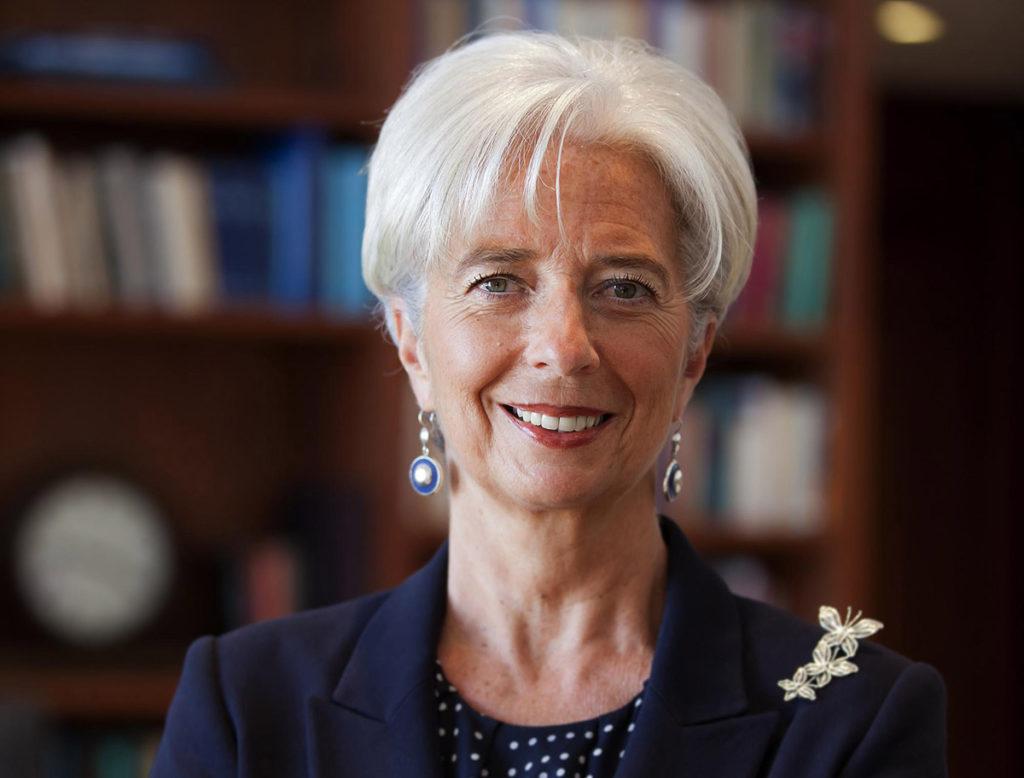 นางคริสทีน ลาการ์ด ประธานธนาคารกลางกลุ่มประเทศยูโร
