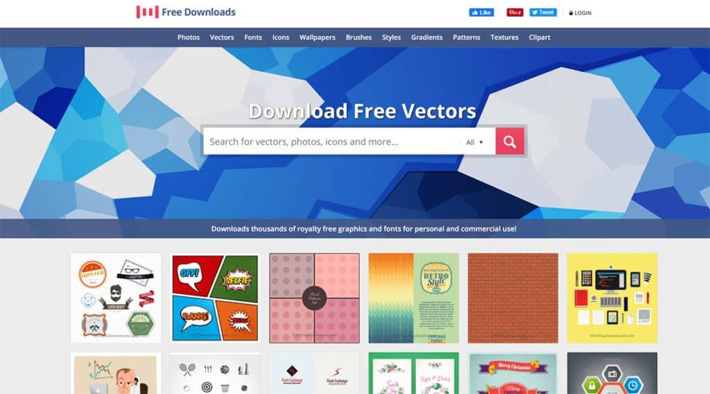 1001freedownloads.com เว็บโหลดภาพฟรี สำหรับภาพที่เป็นไฟล์ Vector หรือ PNG