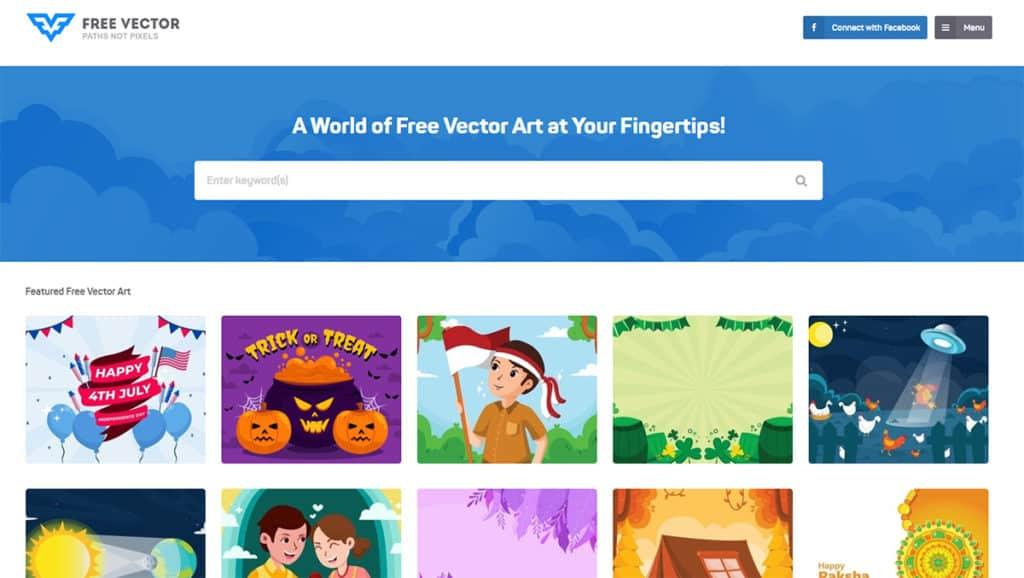 freevector.com เว็บโหลดภาพฟรี สำหรับภาพที่เป็นไฟล์ Vector หรือ PNG