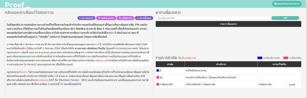 เว็บไซต์ ตรวจคำผิด ภาษาไทย